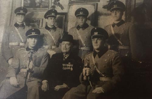 Ceremonia de Aniversario de la Batalla de Huamachuco en 1950.