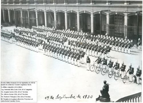 Escuela Militar, en su cuartel de avenida Blanco Encalada.